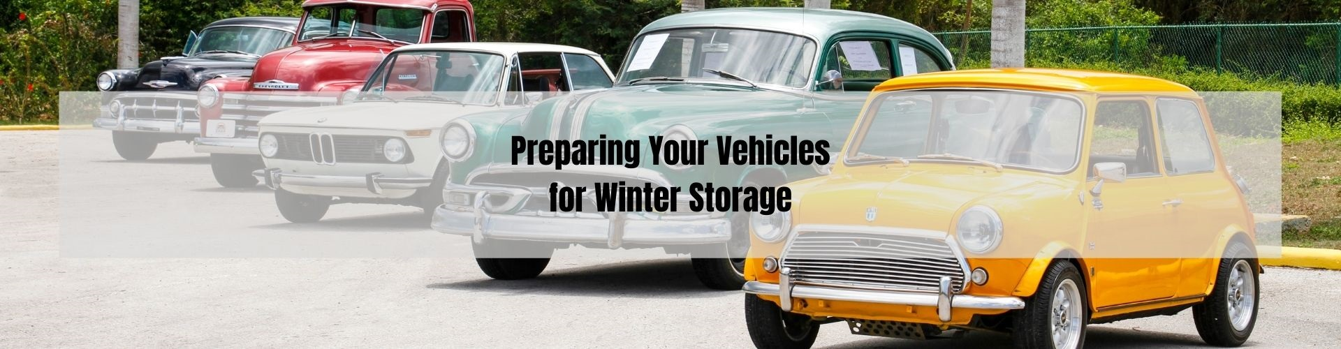 Storing Winter Vehicle